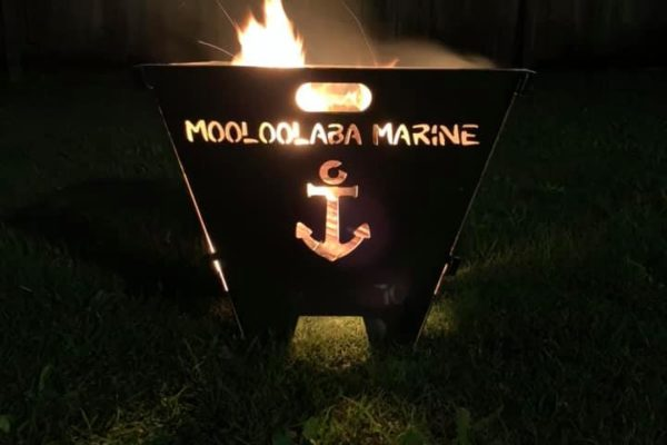 Custom Firepit Writing